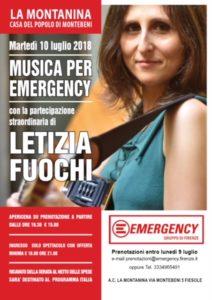Emergency Firenze, Letizia Fuochi ed il fresco alla Montanina di Montebeni @ Circolo La Montanina - Montebeni (Fiesole) | Montebeni | Toscana | Italia
