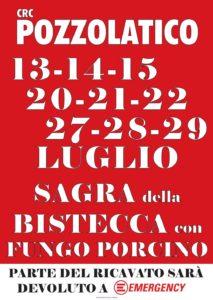 Emergency Firenze alla Sagra della bistecca con fungo porcino @ Circolo Ricreativo Pozzolatico | Pozzolatico | Toscana | Italia