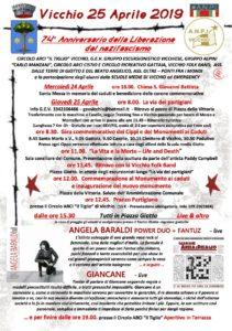 Vicchio 25 Aprile 2019 - 74° anniversario della liberazione dal nazifascismo @ Vicchio | Vicchio | Toscana | Italia